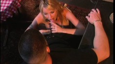 Buxom blonde Salena Del Ray gets her pussy drilled deep by Dillon Day