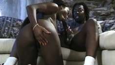 He squeezes the sexy ebony lifeguards big titties then pounds her black snatch