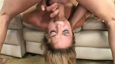 Naughty Jessi Summers takes a brutal spanking as her punishment