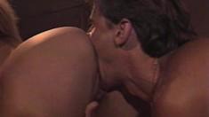 Victoria Paris stars in a vintage film taking Jon Martin's dick