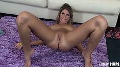 Naked Alysha Rylee does a really stylish and powerful masturbation show