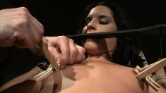 She gets spanked and tortured sucking his cock and getting tapped