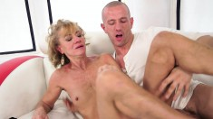 Sexy slender blonde mature is in need of a hard pole invading her butt