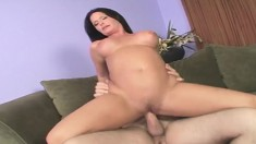 Sexy brunette milf with perfect tits and ass Maya Devine loves to fuck