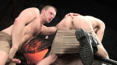 Beautiful stud with a magnificent body indulges in wild fisting action