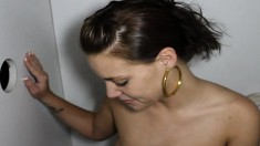 Buxom Brunette Marly Sucking And Fucking For Revenge At The Gloryhole