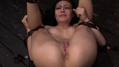 Dazzling girl with tiny tits Nikki Bell submits to every inch of cock