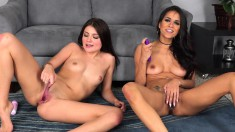 Attractive Lesbians Use Fingers And Toys To Make Each Other Cum Hard