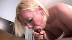 Blonde Milf With A Big Black Cock