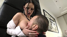 XXX Fucktory - The parody Italian style as sexy brunette scores the new cock in town
