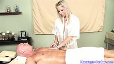 The stunning blonde has great massage skills and a passionate approach to her job