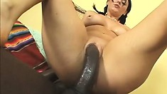 Brunette piece of ass with pigtails needs to get stuffed by a black dick