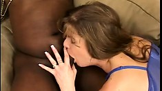 Lonely MILF loves being used like a doll by a pair of black studs
