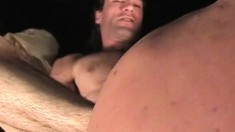 A couple of rocker dudes enjoy some balls deep anal drilling