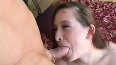 Smoking hot redhead Ashley is in dire need of some rough dicking