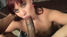 Olga loves a big fat cock, and his black cock makes her squeal