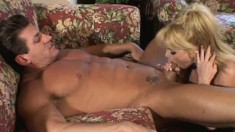 Huge breasted blonde housewife Taylor Wane can't resist a hung stud