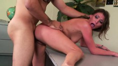 Ravishing babe with a hot ass Victoria Lawson loves it deep and rough