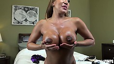 Kinky Ava Devine toys both holes, plays with tits and poses agian