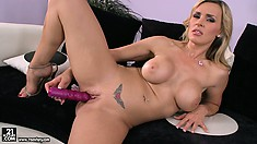 Bosomy milf Tanya has been waiting for that chance long enough