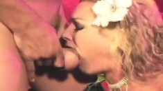 Blonde Flower Tucci will let him stick his dick in any hole he wants
