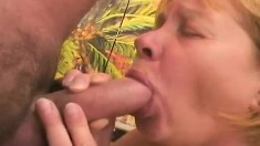Cock starving blonde mommy with big breasts begs for a deep pounding