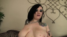 Fat chick gets drilled so hard her big boobs bounce all over