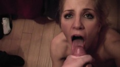 Horny blonde babe gets her pussy licked in the car and ends up in passionate sex in bed