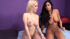 Stacy Jay and Bibi Noel enjoy their time with a sex toy and a big cock