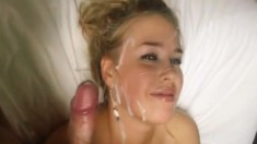 Awesome POV Blonde BJ Facial Cumshot