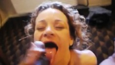 Mature amateur sucking big stud cock
