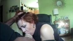 Amateur Redhead Sucks Tons Of Cocks