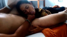 Cambodian slut sucking and fucking 4